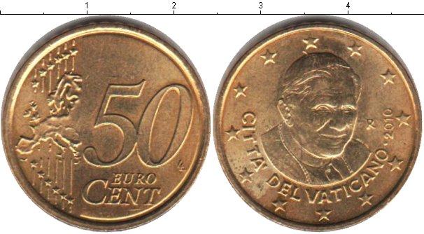 Картинка Монеты Ватикан 50 евроцентов  2010