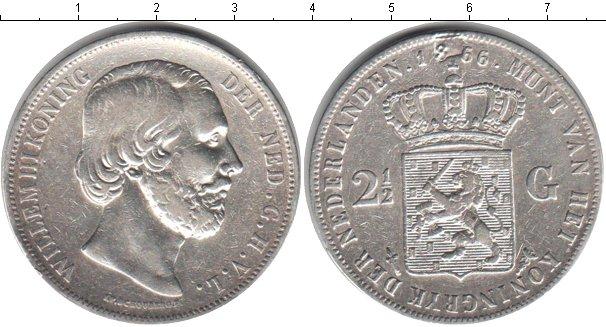 Картинка Монеты Нидерланды 2 1/2 гульдена Серебро 1866