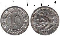 Изображение Монеты Нотгельды 10 пфеннигов 1920 Цинк VF Бетховен.