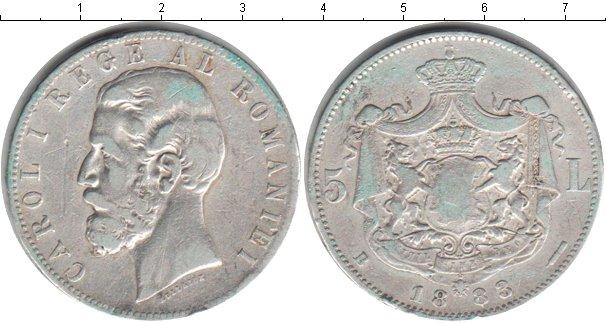 Картинка Монеты Румыния 5 лей Серебро 1883