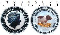 Изображение Монеты Австралия 1 доллар 2007 Серебро Proof- Год Свиньи