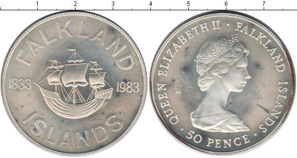Картинка Монеты Фолклендские острова 50 пенсов Серебро 1983