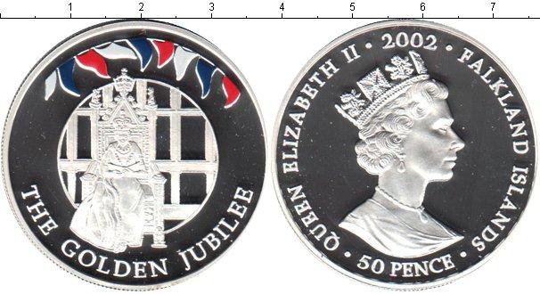 Картинка Монеты Фолклендские острова 50 пенсов Серебро 2002