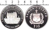 Изображение Монеты Самоа 10 тала 1994 Серебро Proof- Замок Glamis