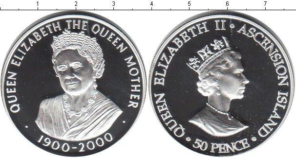 Картинка Монеты Аскенсион 50 пенсов Серебро 2000