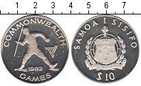 Изображение Монеты Самоа 10 тала 1982 Серебро Proof- Игры содружества нац