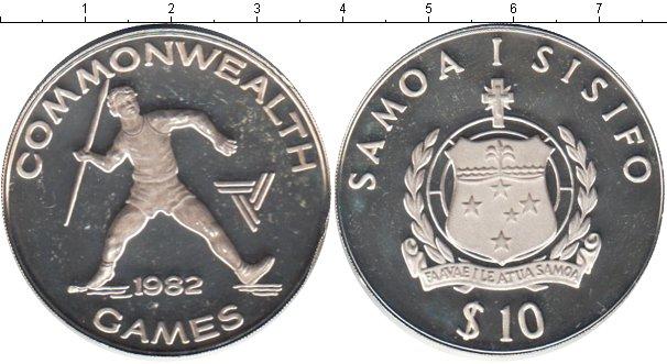 Картинка Монеты Самоа 10 тала Серебро 1982