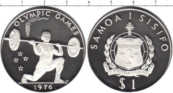 Картинка Монеты Самоа 1 тала Серебро 1982