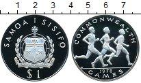 Изображение Монеты Самоа 1 тала 1978 Серебро Proof- Игры содружества нац