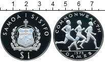 Изображение Монеты Самоа 1 тала 1978 Серебро Proof-