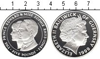 Изображение Монеты Остров Джерси 5 фунтов 1999 Серебро Proof- Елизавета II. Принц