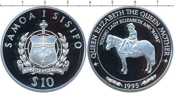 Картинка Монеты Самоа 10 тала Серебро 1995