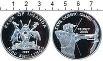Изображение Монеты Уганда 1.000 шиллингов 1999 Серебро Proof- XXVII олимпийские иг