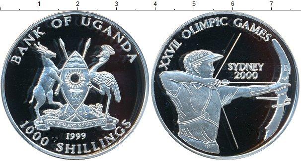 Картинка Монеты Уганда 1.000 шиллингов Серебро 1999
