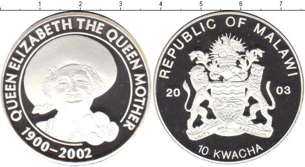 Картинка Монеты Малави 10 квач Серебро 2003