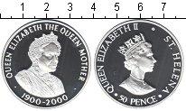 Изображение Монеты Остров Святой Елены 50 пенсов 2000 Серебро Proof-