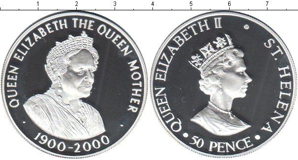Картинка Монеты Остров Святой Елены 50 пенсов Серебро 2000