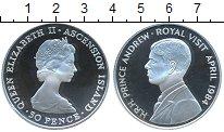 Изображение Монеты Аскенсион 50 пенсов 1984 Серебро Proof-