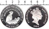 Изображение Монеты Новая Зеландия 5 долларов 1994 Серебро Proof- Елизавета II. Рожден