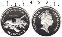 Изображение Монеты Новая Зеландия 5 долларов 1997 Серебро Proof-