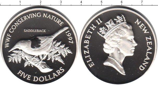 Картинка Монеты Новая Зеландия 5 долларов Серебро 1997