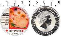 Изображение Монеты Ниуэ 1 доллар 2007 Серебро UNC- Елизавета II. Год ка