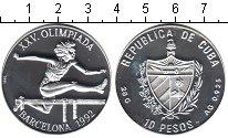 Изображение Монеты Куба 10 песо 1992 Серебро Proof-