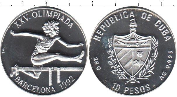 Картинка Монеты Куба 10 песо Серебро 1992