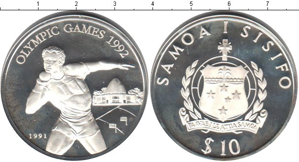 Картинка Монеты Самоа 10 тала Серебро 1991