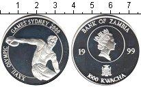 Изображение Монеты Замбия 1000 1999 Серебро Proof-