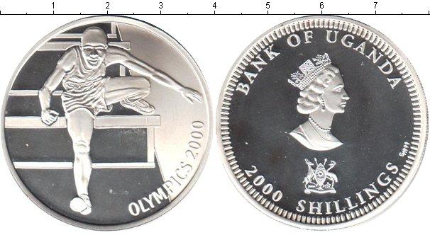 Картинка Монеты Уганда 2.000 шиллингов Серебро 2000