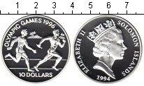 Изображение Монеты Соломоновы острова 10 долларов 1994 Серебро Proof- Елизавета II. Олимпи