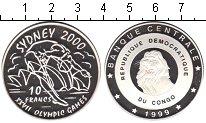 Изображение Монеты Конго 10 франков 1999 Серебро Proof- Олимпиада 2000 в Сид