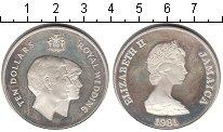 Изображение Монеты Ямайка 10 долларов 1981 Серебро Proof- Свадьба принца Чарль