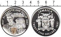 Изображение Монеты Ямайка 25 долларов 1997 Серебро Proof