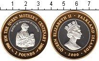 Изображение Монеты Фолклендские острова 2 фунта 2000 Серебро Proof