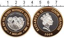 Изображение Монеты Новая Зеландия Острова Кука 5 долларов 2000 Серебро Proof