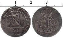 Изображение Монеты Вюртемберг 6 крейцеров 1807 Серебро VF