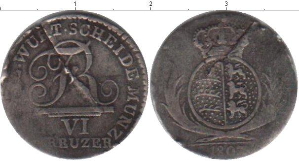 Картинка Монеты Вюртемберг 6 крейцеров Серебро 1807