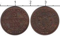Изображение Монеты Саксе-Альтенбург 2 пфеннига 1869 Медь XF