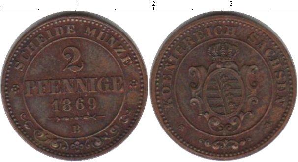 Картинка Монеты Саксе-Альтенбург 2 пфеннига Медь 1869