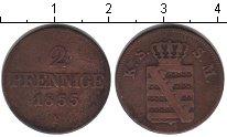 Изображение Монеты Саксе-Альтенбург 2 пфеннига 1855 Медь VF F