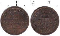 Изображение Монеты Пруссия 1 пфенниг 1856 Медь XF А