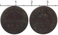 Изображение Монеты Пруссия 1 пфенниг 1847 Медь VF А