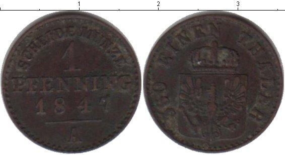 Картинка Монеты Пруссия 1 пфенниг Медь 1847