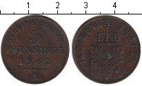 Изображение Монеты Пруссия 3 пфеннига 1863 Медь XF А