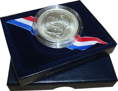Изображение Подарочные монеты США Офицерский мемориал 1997 Серебро UNC Подарочная монета но