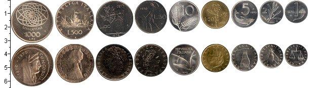 Изображение Наборы монет Италия Италия 1970 1970  UNC В наборе 9 монет ном