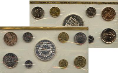 Изображение Подарочные монеты Франция Франция 1976 1976  UNC Набор состоит из 9 м