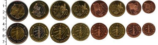 Изображение Подарочные монеты Латвия Латвия 2003 2003  UNC- Евронабор пробных мо